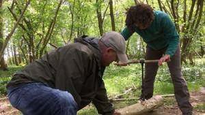Green woodworking at Forest School CPD - March 2021